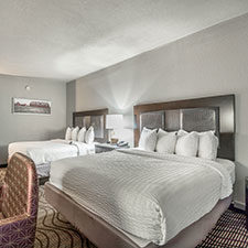 two queen beds room at District 3 Hotel, An Ascend Hotel Collection Member